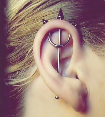 Pitchfork Ear Piercing Ideas at MyBodiArt