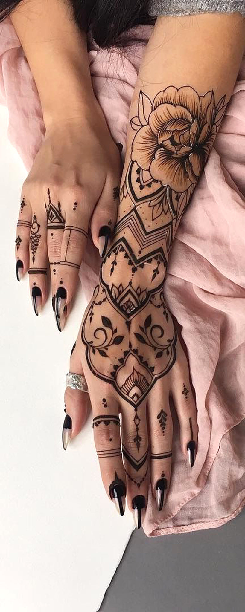 Henna Rose Tattoo: 30+ Unique Arm Tattoo Ideas That Are Simple Yet Have