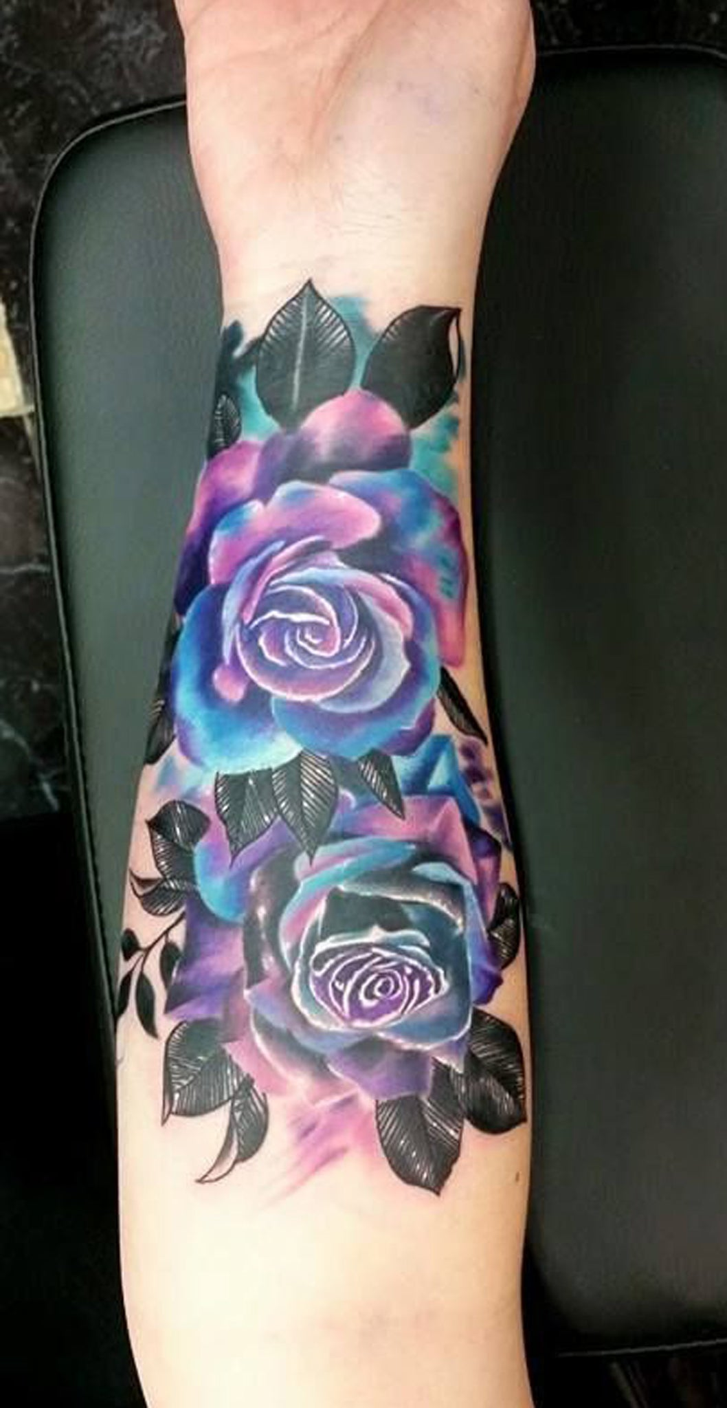 a94d072a9 Watercolor Rose Forearm Tattoo Ideas for Women - Realistic Vintage Flower  Inner Outer Arm Sleeve Tat