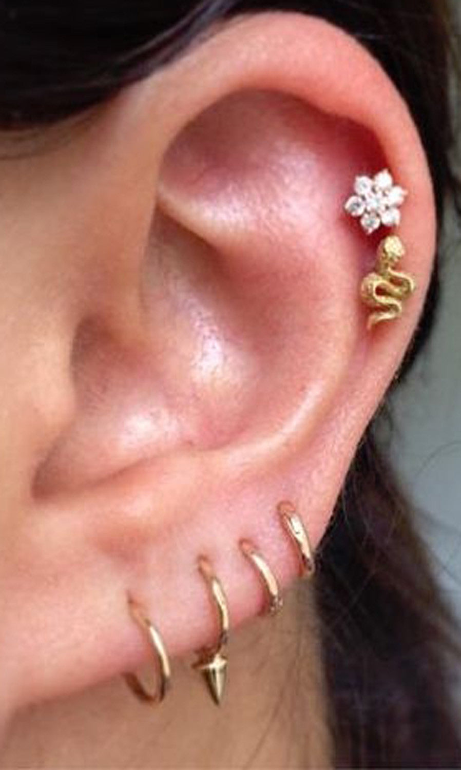 surgical new itm stud gold certified loading is sterile image ear studs lobe s earrings piercing silver