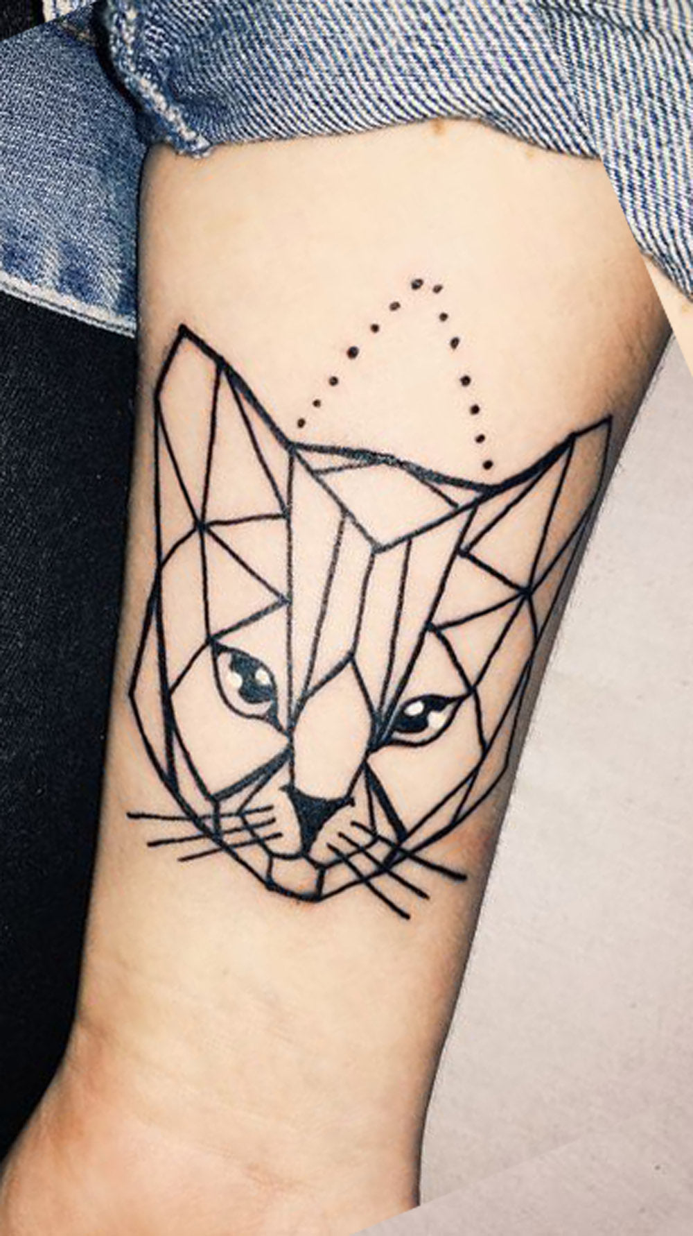 Fancy Cat Portrait Tattoo