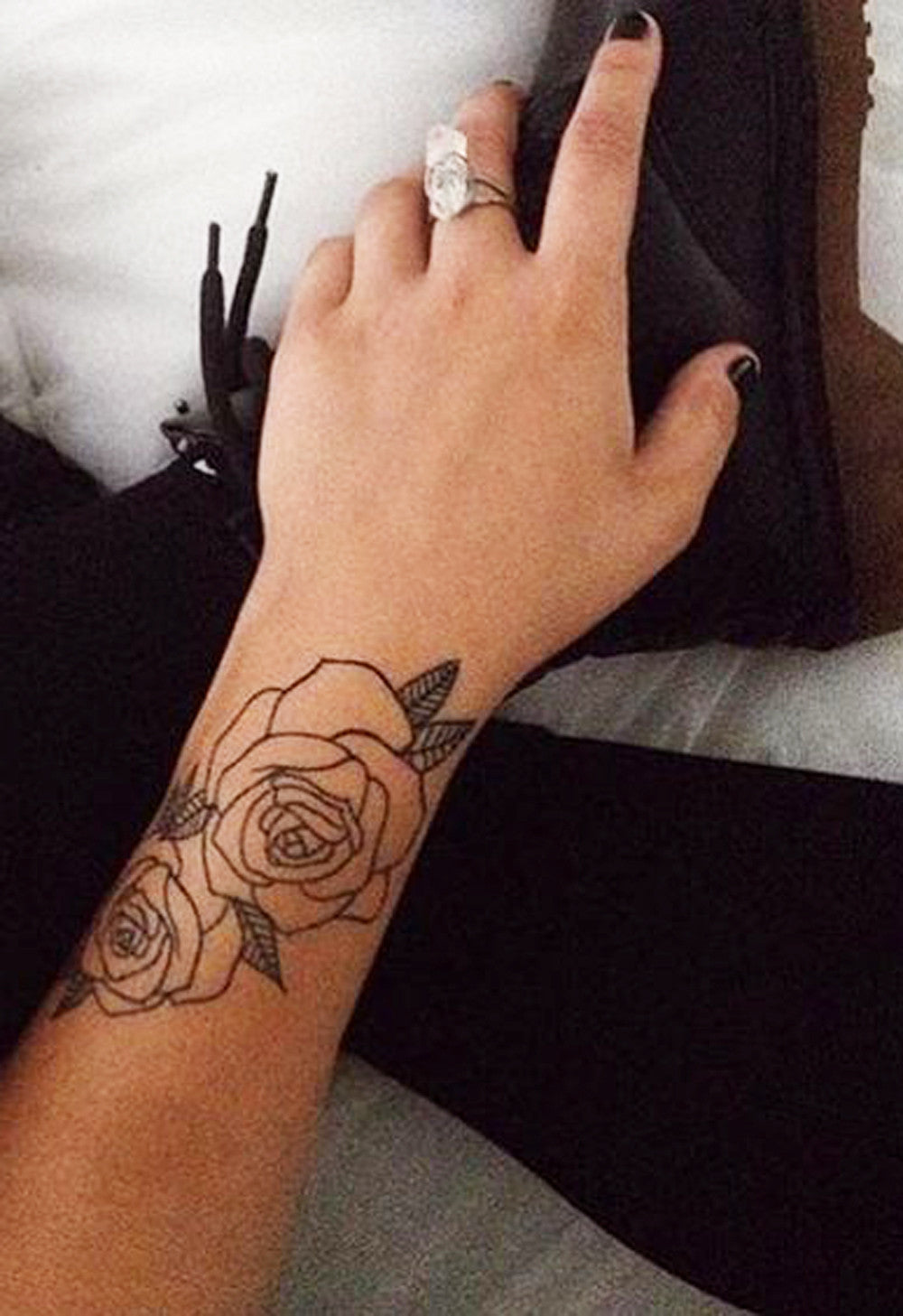Black Rose Forearm Tattoo Ideas for Women - MyBodiArt.com