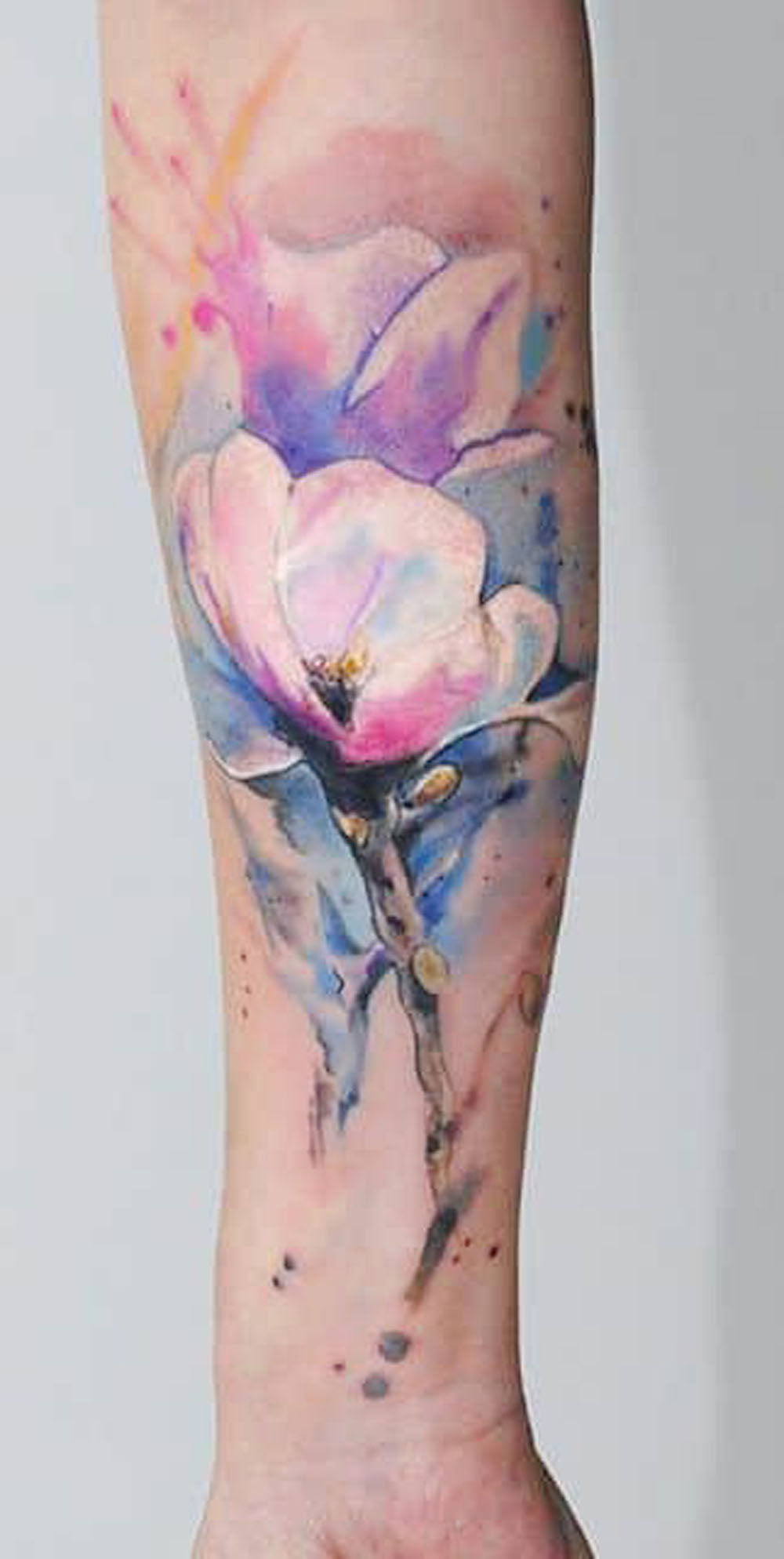Beautiful Watercolor Jasmine Flower Forearm Arm Sleeve Tattoo Ideas for Women -  ideas de tatuaje de manga de brazo de flor - www.MyBodiArt.com