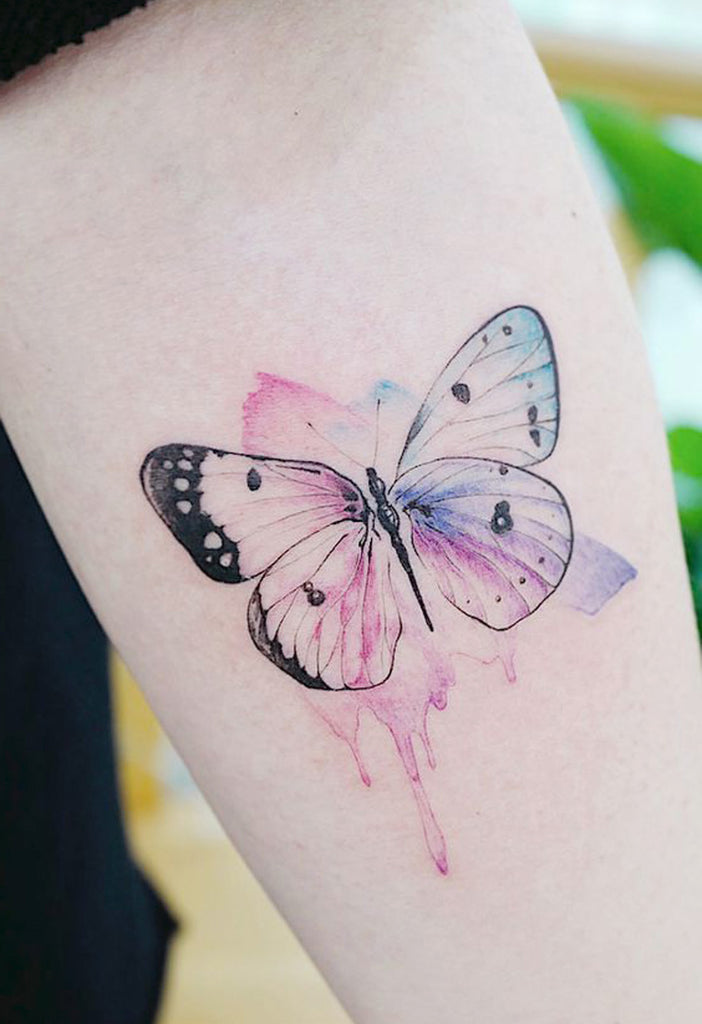 Beautiful Watercolor Butterfly Forearm Tattoo Ideas for Women -  Hermosas acuarelas mariposa antebrazo tatuaje Ideas para mujeres - www.MyBodiArt.com