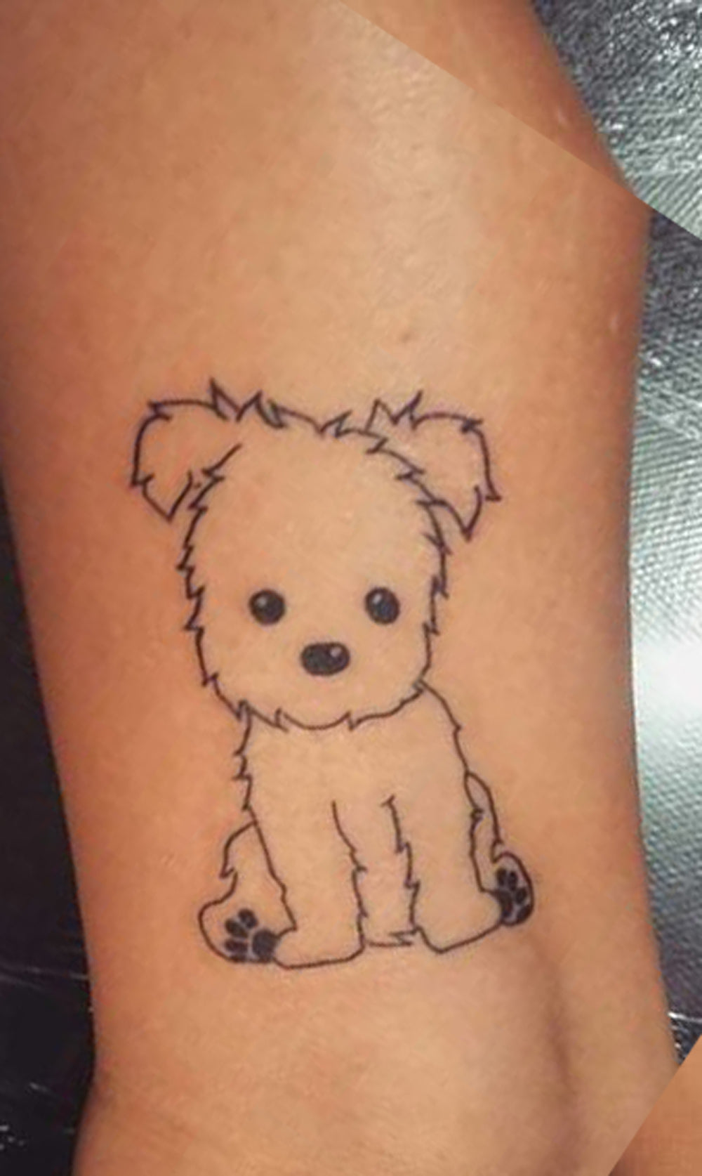 Image of: Elephant Cute Small Dog Tattoo Ideas Arm Sleeve For Women Ideas Lindas Del Tatuaje Del Perro Mybodiart 30 Cute Small Simple Dog Tattoo Ideas For Women Animal Lovers