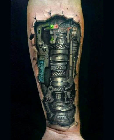 Biomech Tattoo Sleeve - MyBodiArt.com