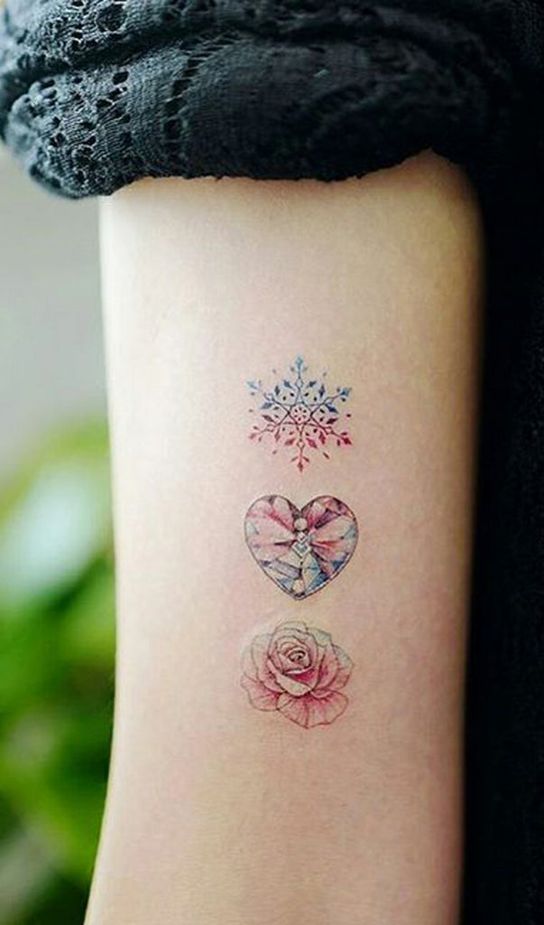 Unique Pretty Watercolor Triple Three Rose Arm Tattoo Ideas for Women - www.MyBodiArt.com