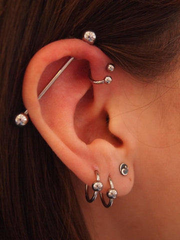 Industrial Barbell Piercing Ideas at MyBodiArt