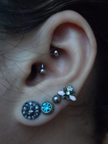 Piercing Ideas for Ear, Rook Piercing, Curved Barbell