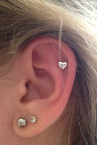 Cute Heart Piercings @ MyBodiArt