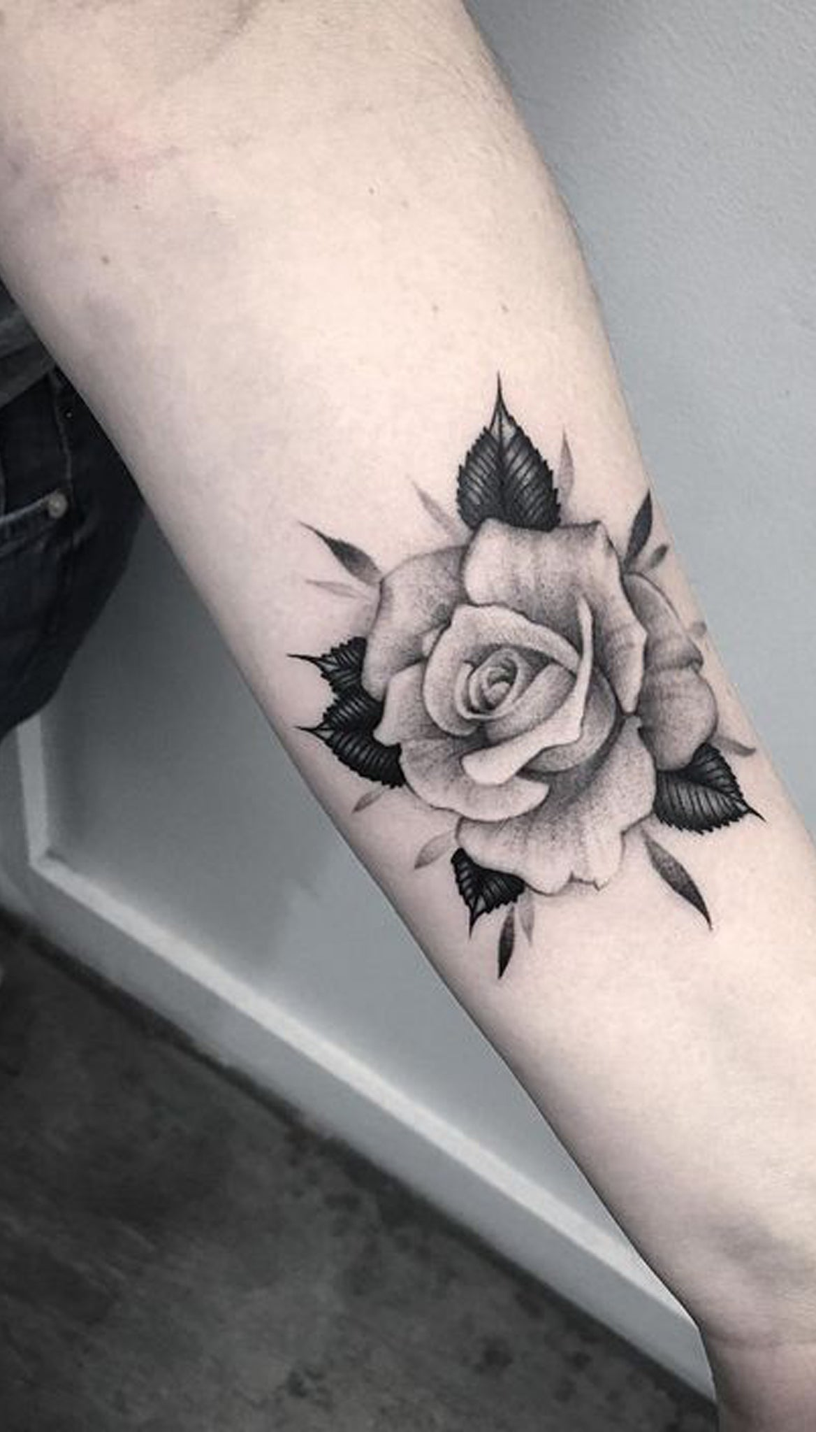 Realistic Flower Tattoos On The Right Forearm Tattoo: 50+ Beautiful Rose Tattoo Ideas
