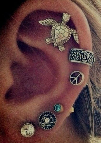 Cute Ear Piercing Ideas for Cartilage Piercing, Helix Piercing at MyBodiArt