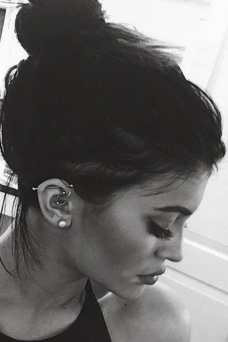 Kylie Jenner Ear Piercing Jewelry at MyBodiArt