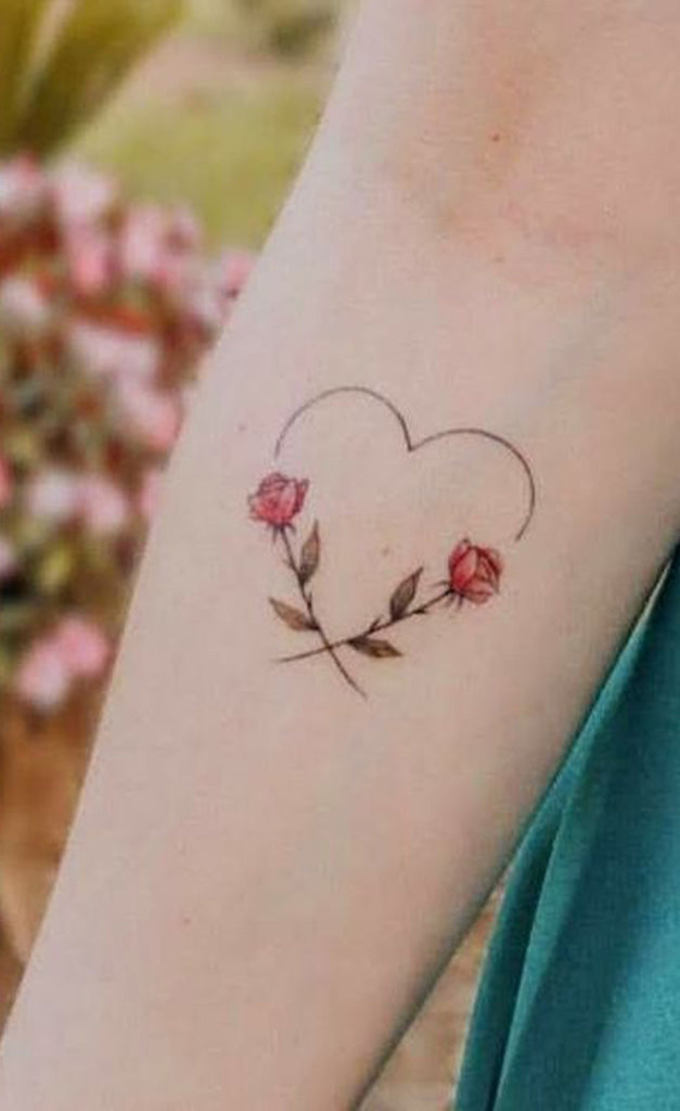 Cute Heart Line Floral Flower Forearm Tattoo Ideas for Women -  Ideas de tatuaje de flores para mujeres - www.MyBodiArt.com