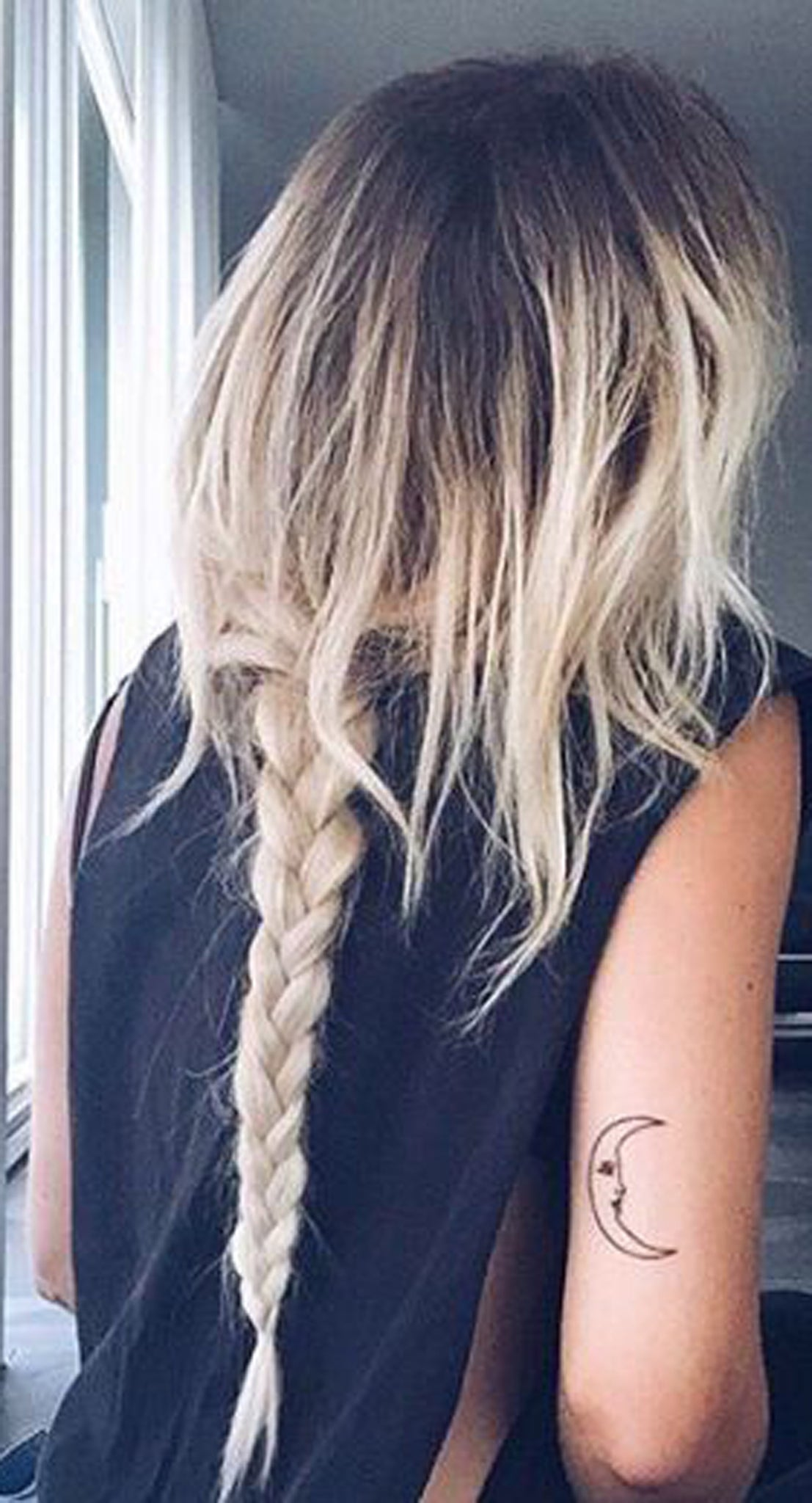 Moon Tricep Tattoo Ideas For Teen Girls Minimal Simple