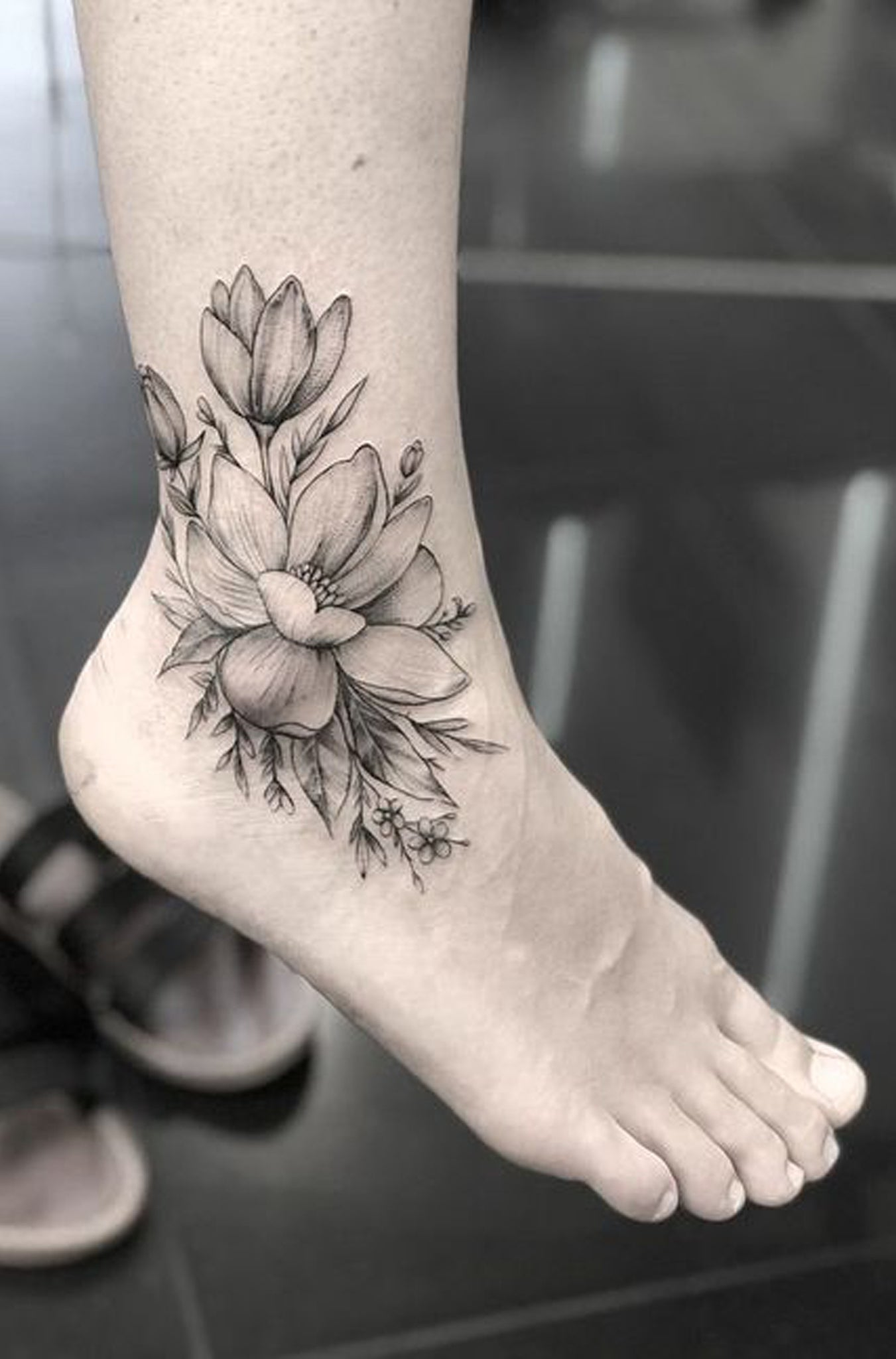 Flower Ankle Tattoo: 100+ Of Most Beautiful Floral Tattoos Ideas