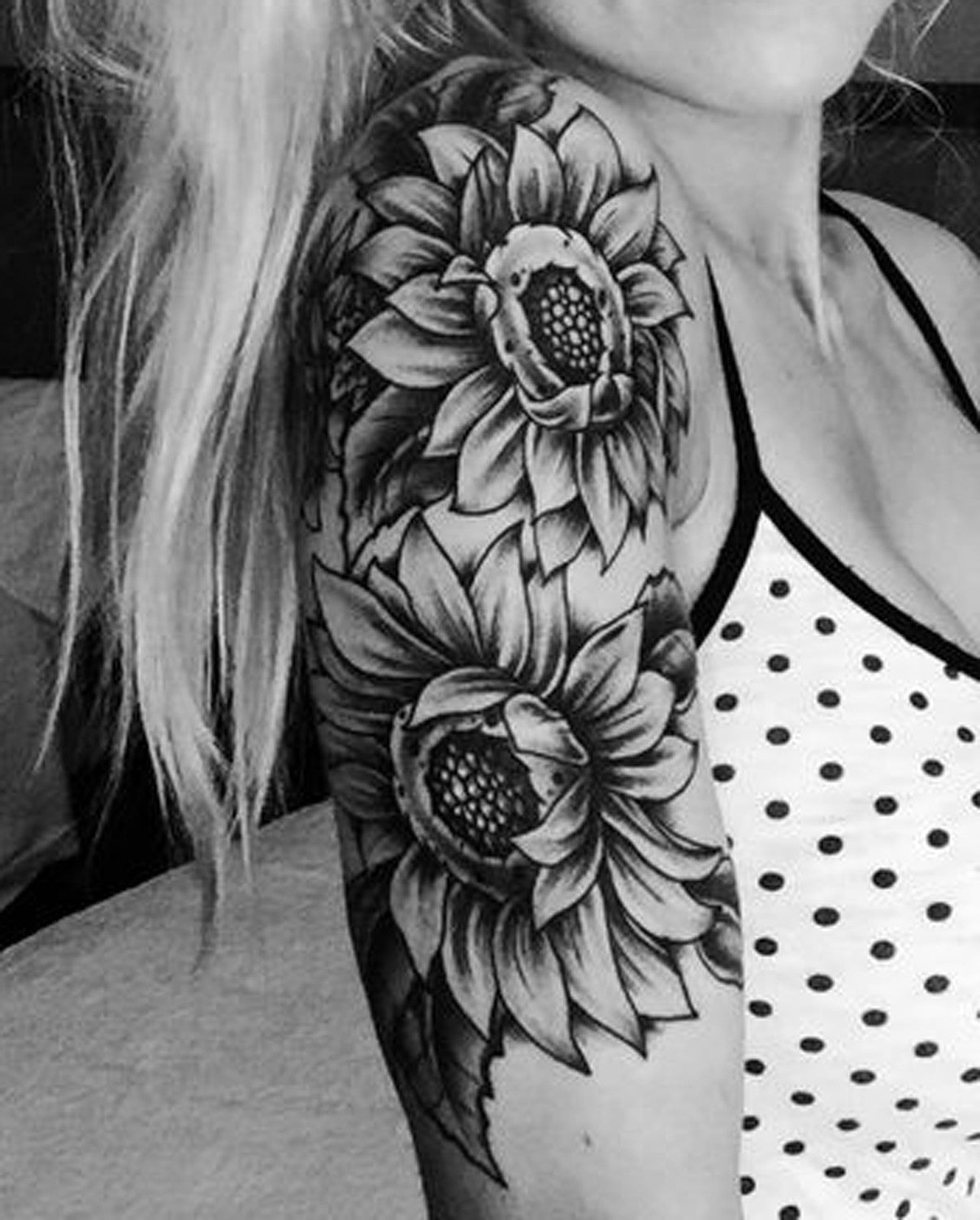 sunflower tattoo ideas - 736×915