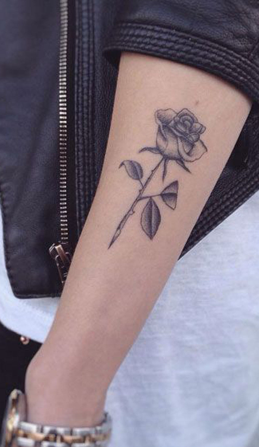 Small Flower Rose Tattoo Ideas - MyBodiArt.com