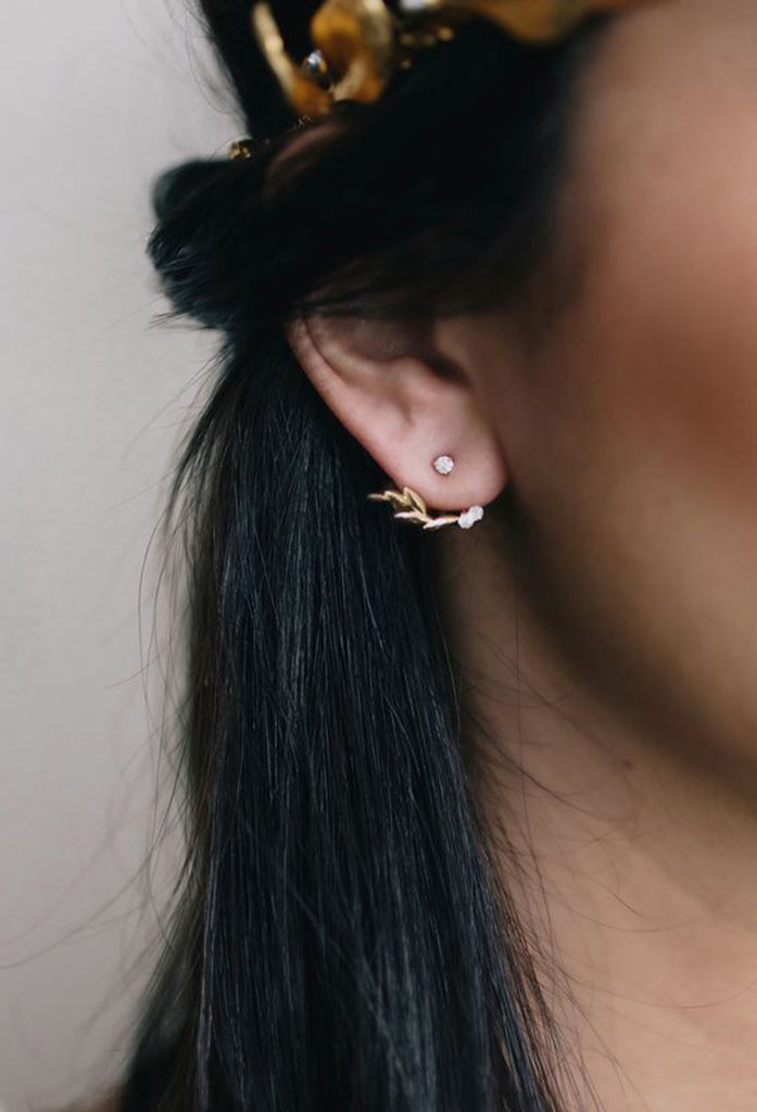 Beautiful Classy Simple Earrings - Silver Ear Jacket - MyBodiArt.com