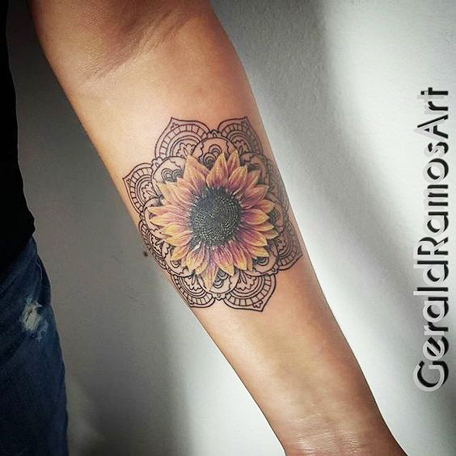 sunflower tattoo ideas - 736×736