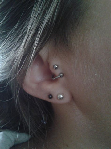 Spiral Ear Piercing Ideas at MyBodiArt