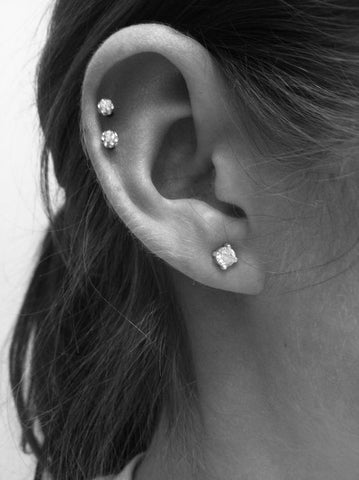 Crystal Cartilage Piercing Ideas at MyBodiArt