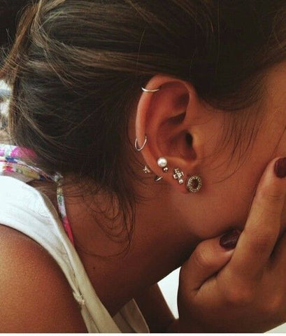 Cool Ear Piercing Ideas and Jewelry at MyBodiArt