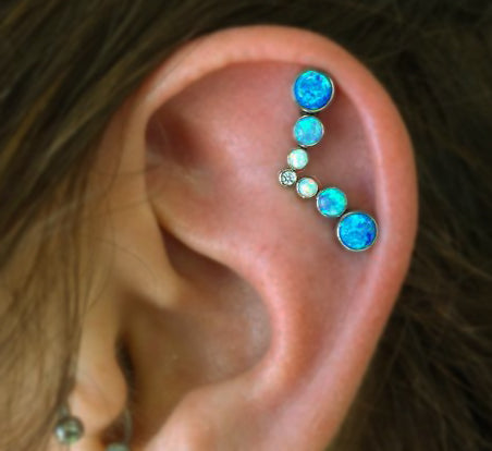 Opal Cartilage Jewelry at MyBodiArt