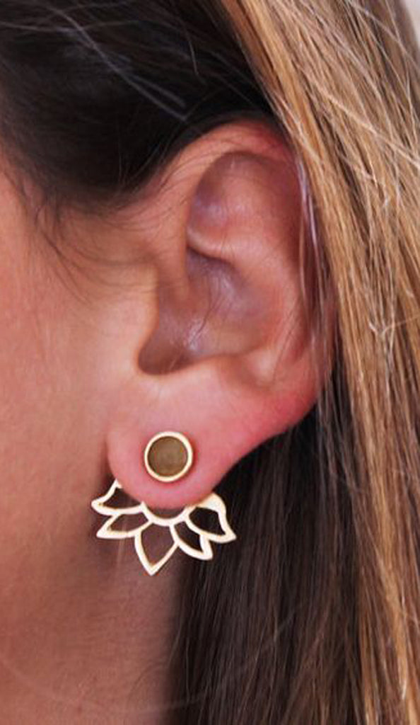 Earrings for the Minimalist Chic - In Style Gold Ear Jackets - MyBodiArt.com