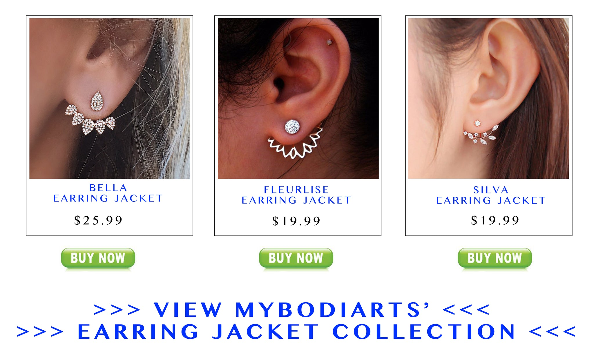 Ear Jacket Earrings at MyBodiArt.com