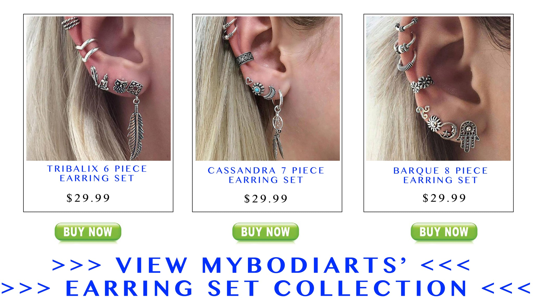 Earring Set at MyBodiArt.com