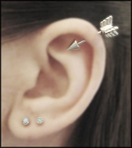 Helix Piercing with Arrow Helix Earring