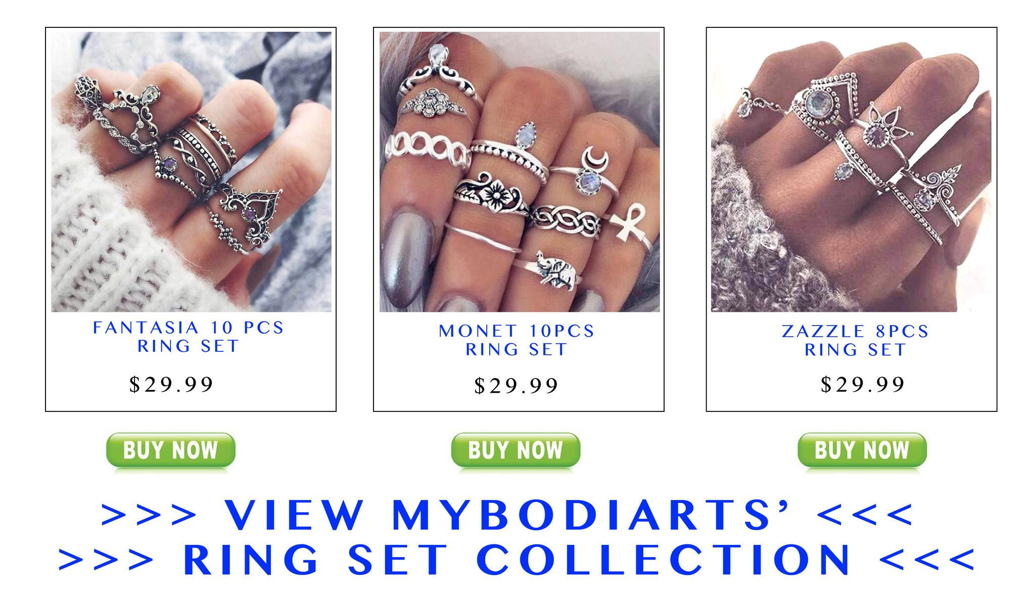 Ring Sets Jewelry at MyBodiArt.com