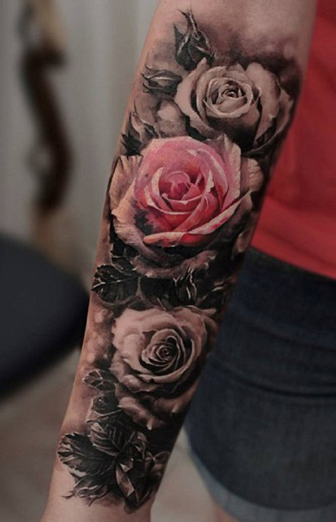 100 of most beautiful floral tattoos ideas mybodiart for Flower tattoo arm