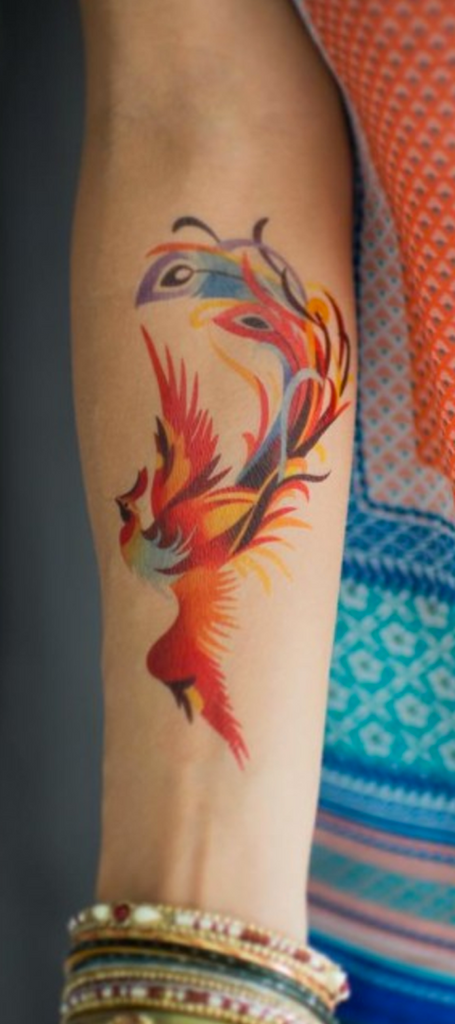 Watercolor Goldfish Arm Tattoo - MyBodiArt.com