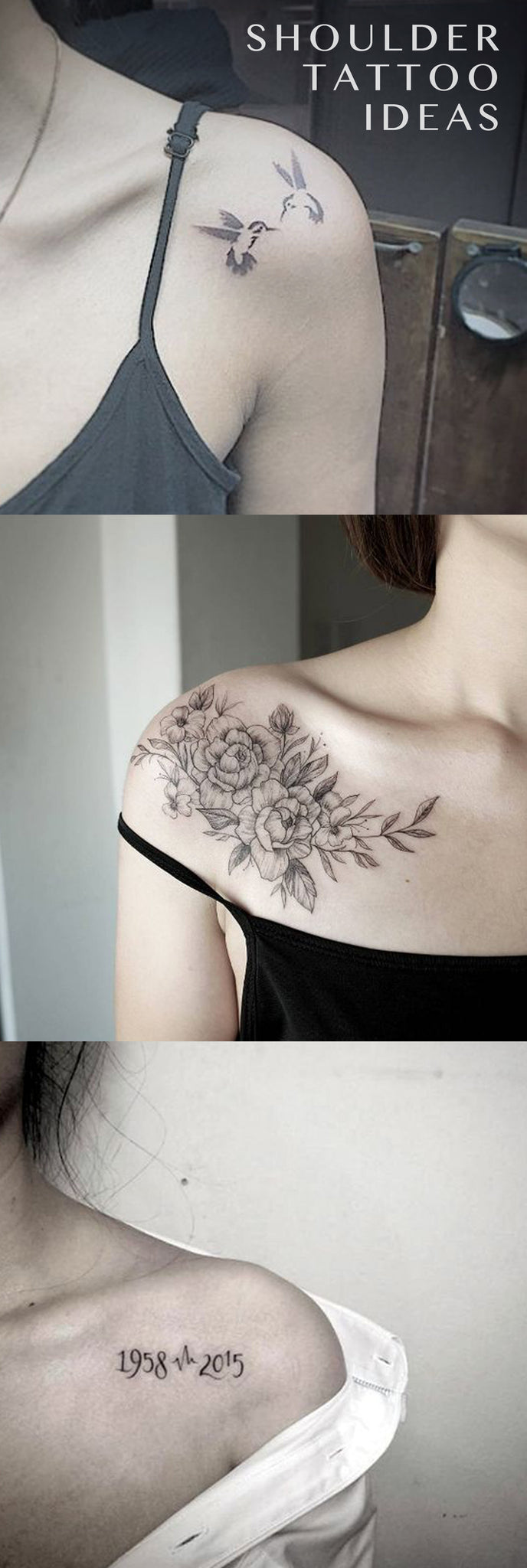 3f07228af Small Delicate Shoulder Blade Tattoo Ideas for Women - Floral Flower Ideas  Del Tatuaje - Sparrow