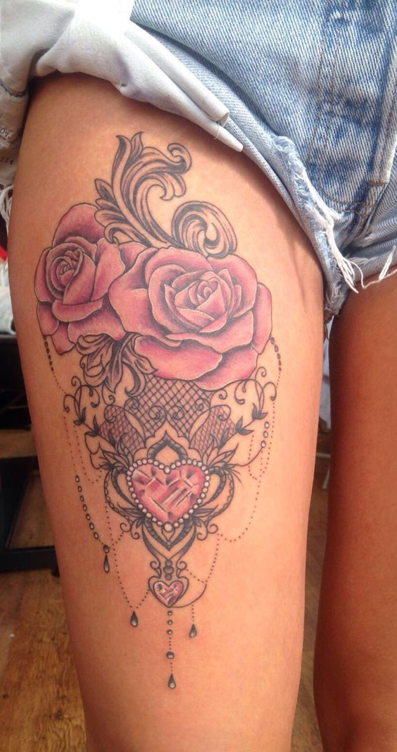 30+ Women\u0027s Badass Hip \u0026 Thigh Tattoo Ideas \u2013 MyBodiArt