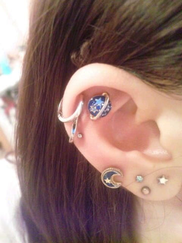 Cute Multiple Ear Piercing Jewelry at MyBodiArt