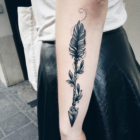 Large Arm Arrow Tattoo