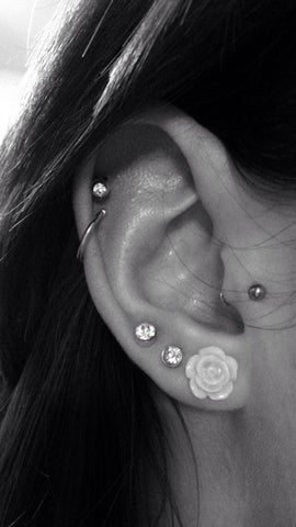 Cute Cartilage Piercing Jewelry at MyBodiArt