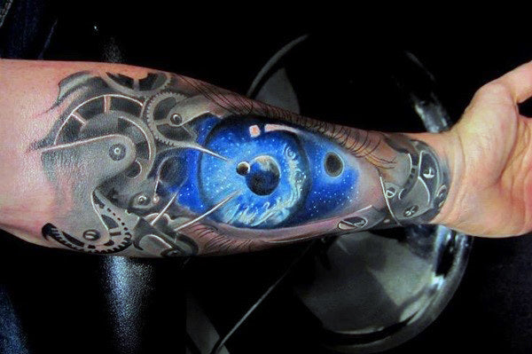 biomechanical sleeve tattoo - MyBodiArt.com
