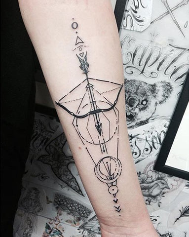 Crossbow Arrow Tattoo Ideas - MyBodiArt