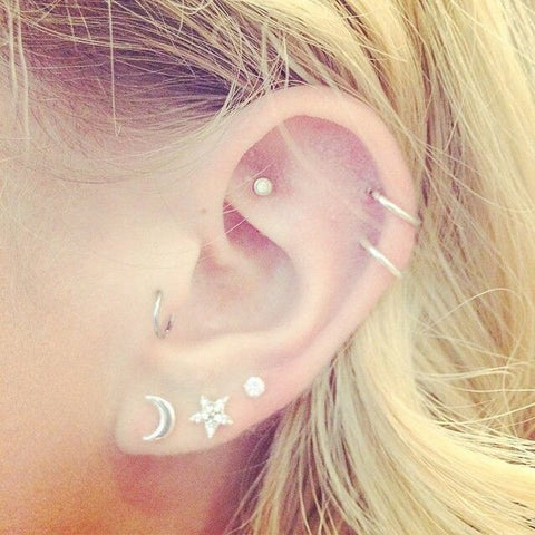 Elegant Ear Piercings Jewelry at MyBodiArt
