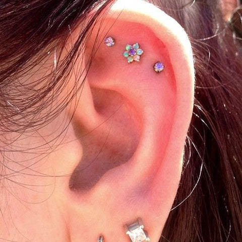 Cute Opal Helix Piercing Ideas at MyBodiArt