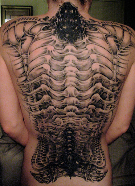 Bones Back Tattoo - MyBodiArt.com