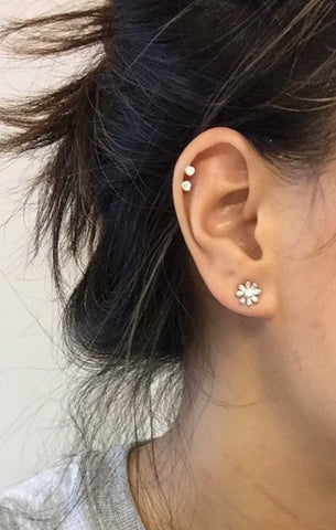 Swarovski Cartilage Piercing Jewelry Studs at MyBodiArt