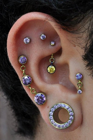 10 Cool Ear Piercings to Amp Up Your Ear Game, Rook Earrings, Helix Piercing, Cartilage Stud, Tragus Barbell, Ear Plugs