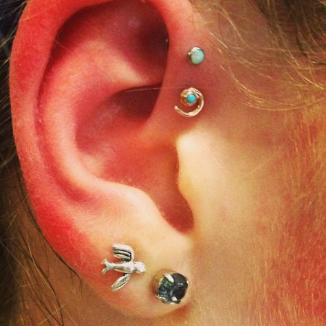 Opal Forward Helix Piercing Jewelry Ideas