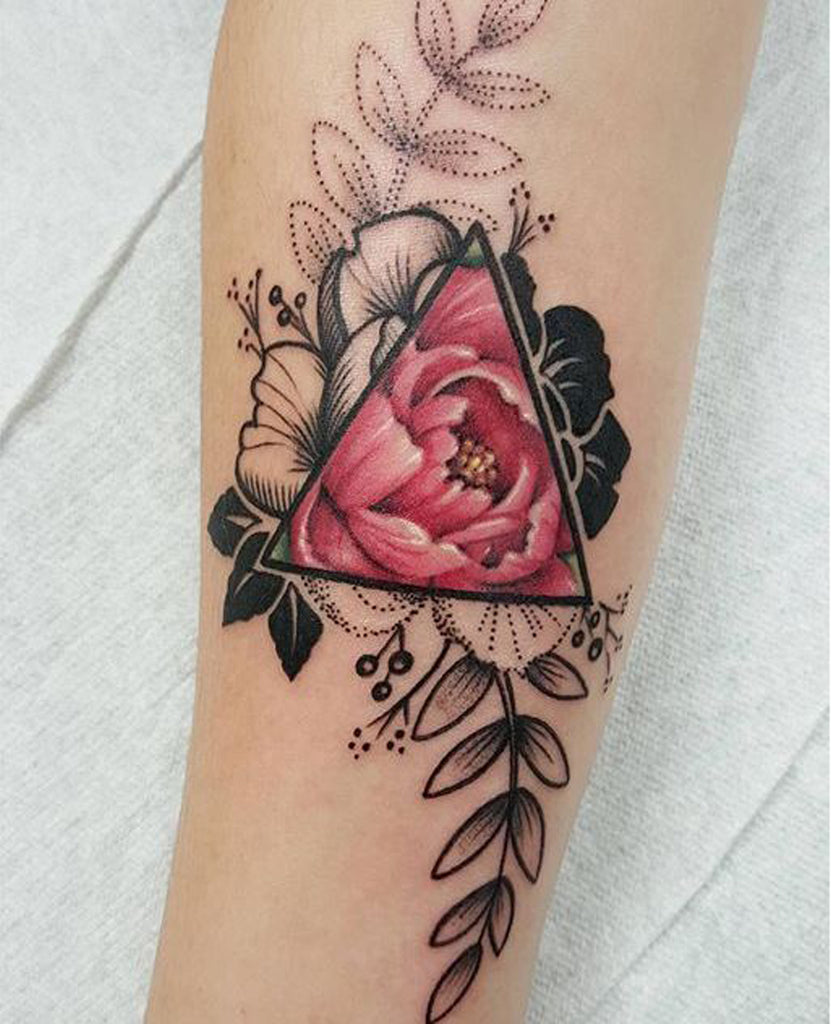 Small Tattoos for Women - Watercolor Flower  - MyBodiArt.com