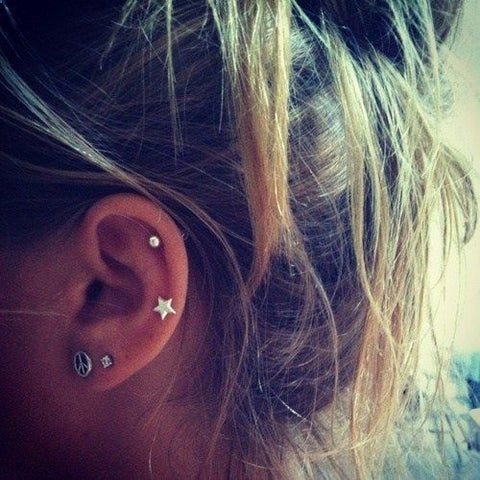 Simple yet Beautiful Ear Piercings at MyBodiArt